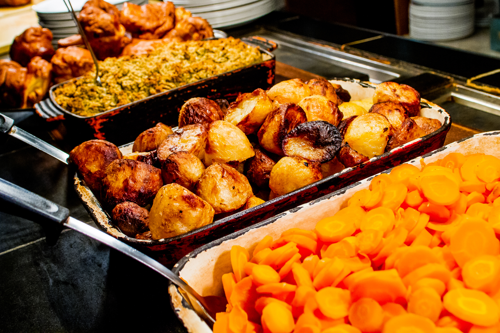 Carvery Vegetables at The Swans Nest